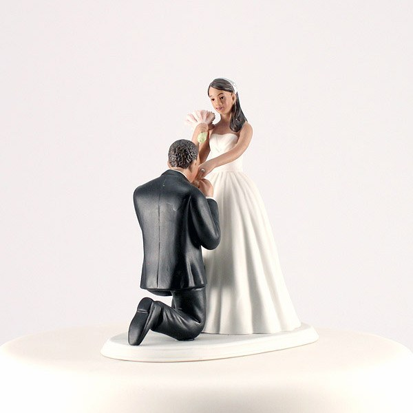 Cinderella Moment Fairytale Couple Wedding Cake Topper African American Hispanic