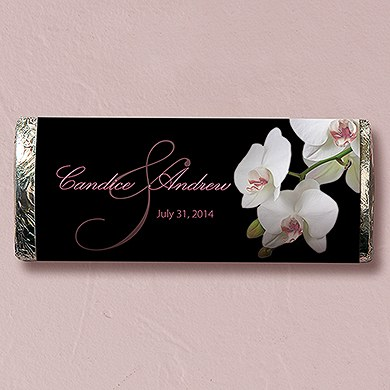 Classic Orchid Chocolate Bar Wedding Favor