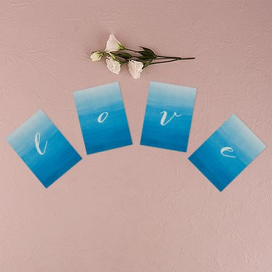 Aqueous Wedding Bunting Banner