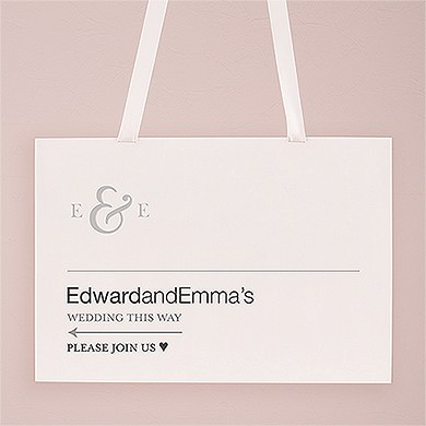 Monogram Simplicity Directional Poster Sign   Simple Ampersand