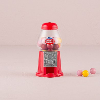 Classic Wedding Favor Gumball Machine in Traditional Red