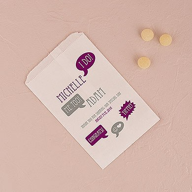 We Do Speech Bubbles Printed Flat Pocket Goodie Bag