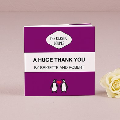 Classic Penguin Style The Classic Couple Personalized Book Style Wedding Favor Notepad