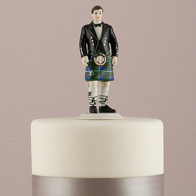 Groom in Kilt Wedding Cake Topper
