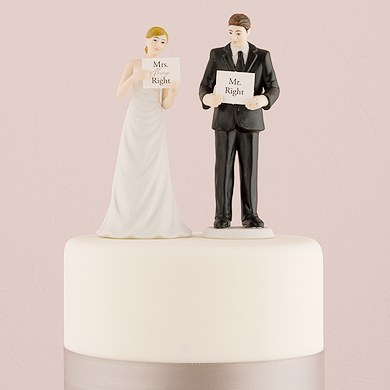 Read My Sign Bride And Groom Figurines Confetti Co Uk