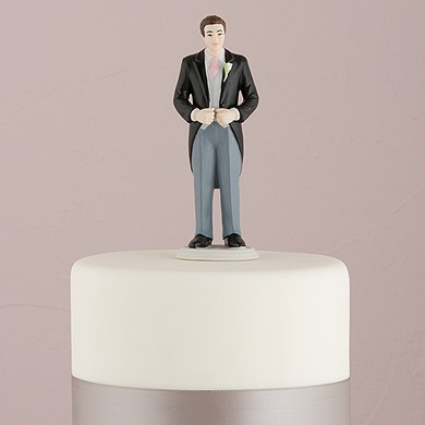Morning Suit Groom Cake Topper