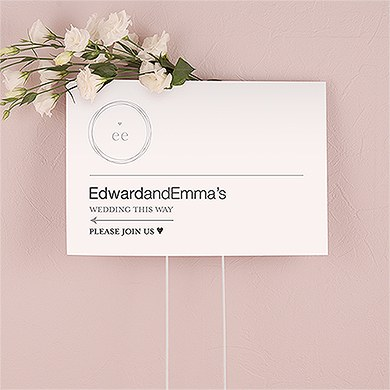 Monogram Simplicity Personalized Directional Poster Sign   Modern