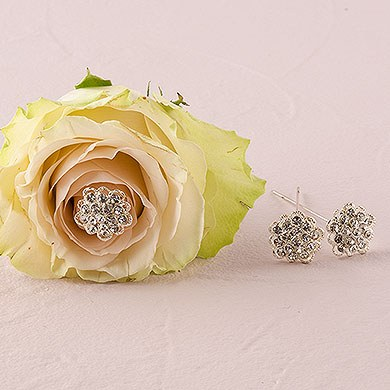 Crystal Flower Bouquet Jewelry