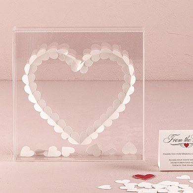 From The Heart Transparent Acrylic Shadow Box