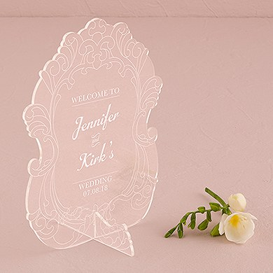 Vintage Romance Acrylic Sign   Personalized