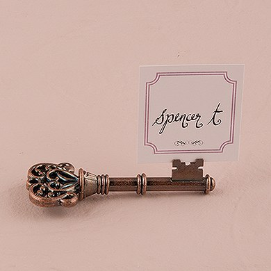 Vintage Key Wedding Stationery Holder