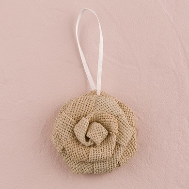 Rolled Burlap Flowers - Large