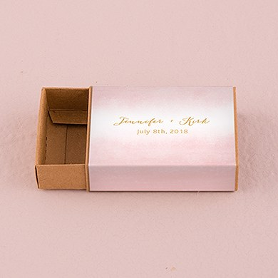 Kraft  Drawer-Style Favor Box With Aqueous Wrap