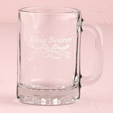 Mini White Ring Bearer and Flower Girl Stein Wedding Gift