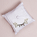 Simply Sweet Love Bird Flag Banner Personalized Linen Ring Pillow