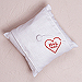 Simply Sweet Personalized Heart Linen Ring Pillow