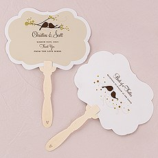 Love Bird Personalized Hand Fan