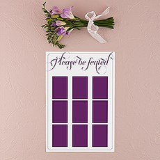 Personalized Seating Chart Kit with Expressions Design
