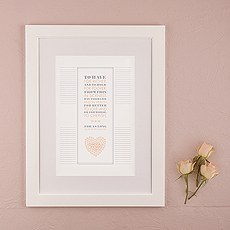 From This Day Forward Personalized Signature Certificate with Frame