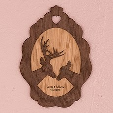 Personalized Wood Veneer Sign - Deer Sign