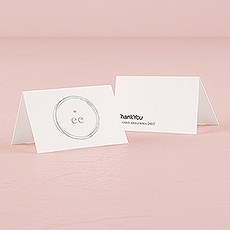 Monogram Simplicity Place Card With Fold - Modern