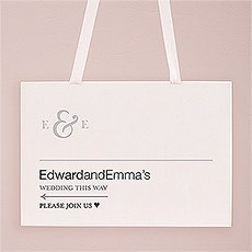 Monogram Simplicity Directional Poster - Simple Ampersand