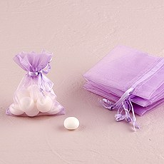 Small Sheer Rectangular Organza Bags