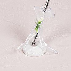 Bridal Beauty Calla Lily Elegance Pen in Silver