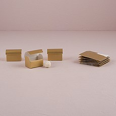 Seta Oro - Lustrous Gold Favor Boxes