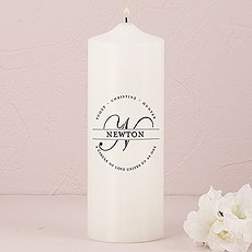 Family Circle Monogram Personalized Unity Candle
