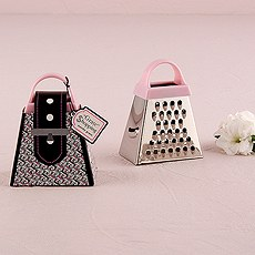 """Grate Shopping"" - Pink Mini Grater Favor Gift"