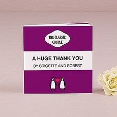 Notepad Favor with Personalized Classic Penguin Cover