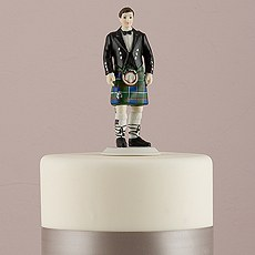 Groom in Kilt Figurine