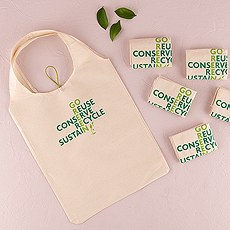 ECO Folding Multi-use Tote made of Natural Cotton