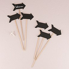 Wooden Black Board Stick in Directional Arrow Shape