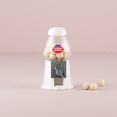 Mini Classic White Gumball Dispenser