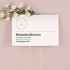 Monogram Simplicity Directional Sign - Modern