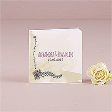 Natural Charm Personalized Book Style Notepad