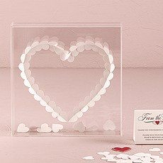 """From The Heart"" Transparent Acrylic Shadow Box"