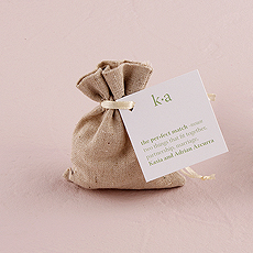 Mini Linen Drawstring Pouch - Plain