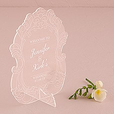 Vintage Romance Acrylic Sign - Personalized