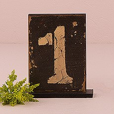 Rustic Self-Standing Table Number And Holders