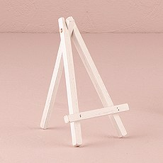White Wooden Easels - Medium