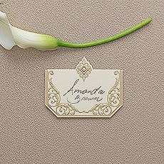 Art Deco Laser Embossed Place Cards