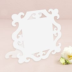 Laser Expressions Large Square Baroque Frame Folded Signage - White (12)