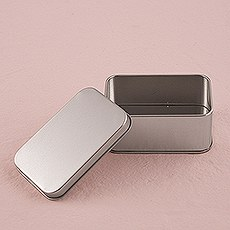 XOXO Rectangular Tin Box with Lid