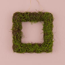 Faux Moss and Wicker Square Frame - Small