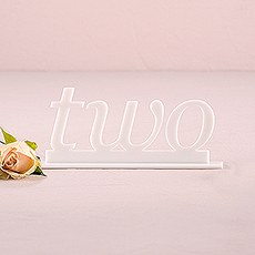 hite Acrylic Table Number - Word Style