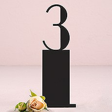 Black Acrylic Table Number - Pedestal Style