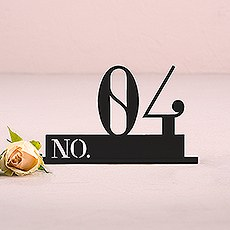 Black Acrylic Table Number - Double Digit Style